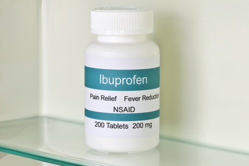 Ibuprofen bottle