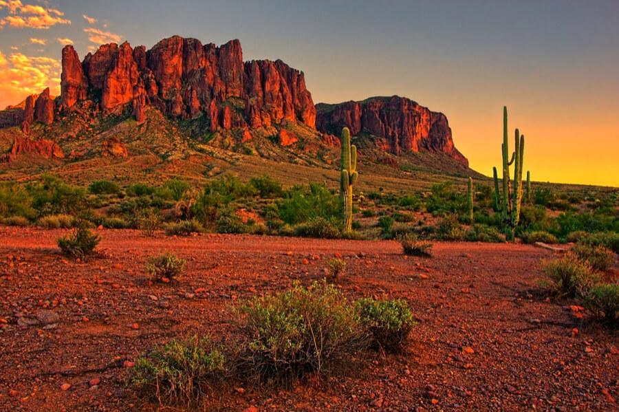 mountains near Phoenix, Arizona, USA