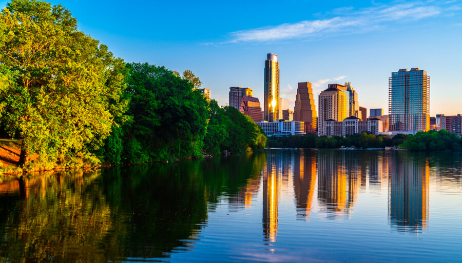 Austin Texas perfect mirrored reflection