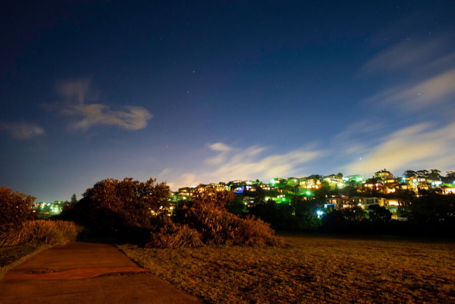 Coogee beach with Aurora