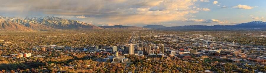 Downtown Salt Lake City skyline Utah