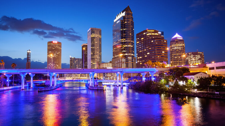 Downtown Tampa, Florida Skyline