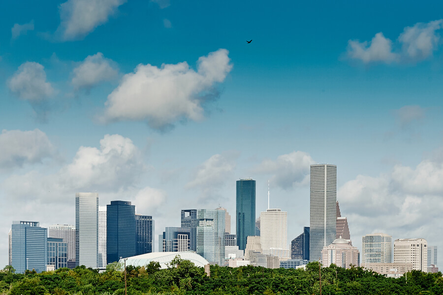 Houston, Texas. Skyline summer day