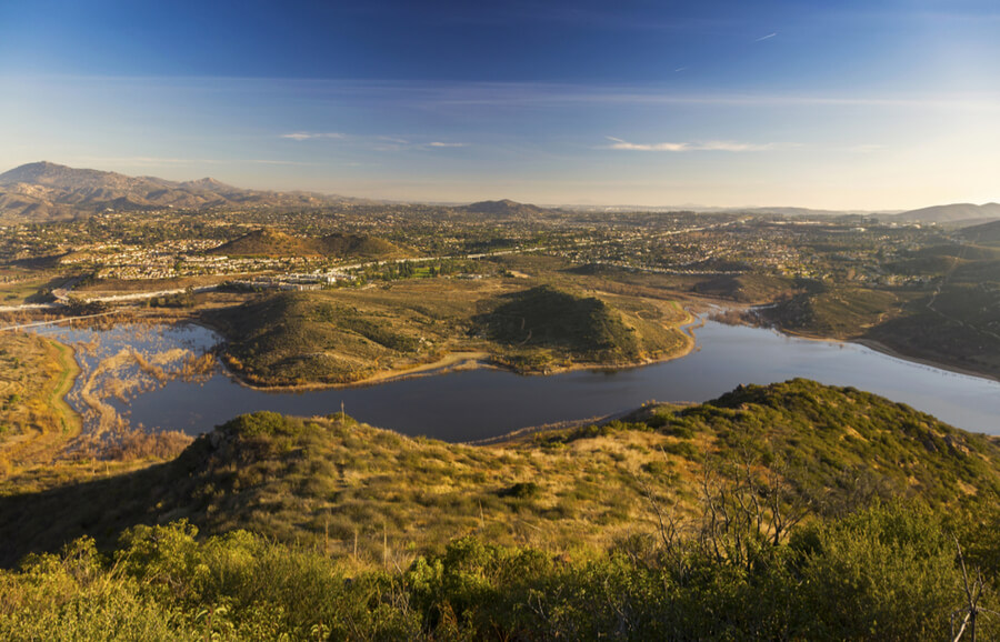 Lake Hodges in San Diego County