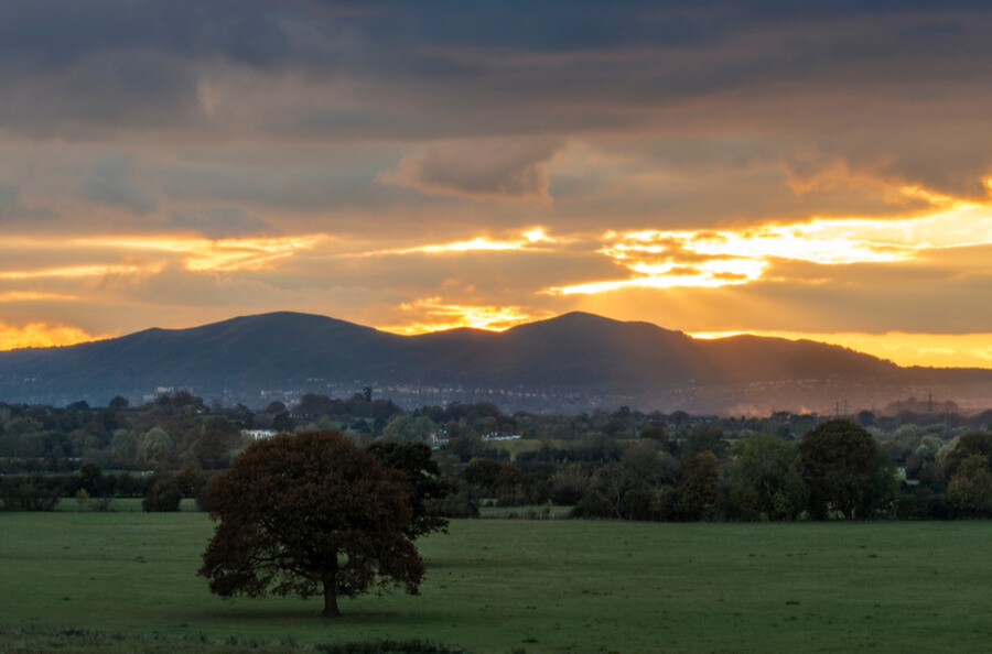 Malvern sunset view