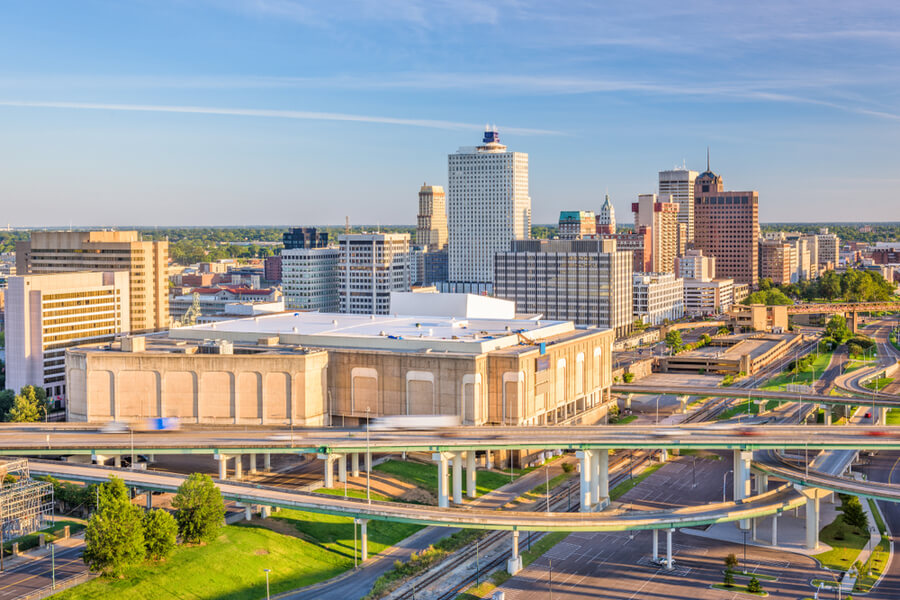 Memphis, Tennessee, USA downtown