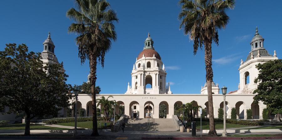 Pasadena City Hall in Pasadena, California, USA