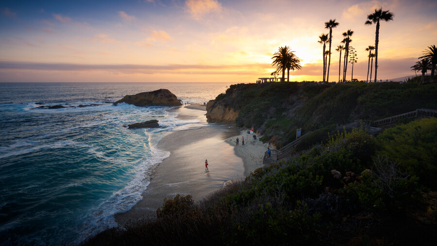 Sunset at Laguna Beach, Orange County, California