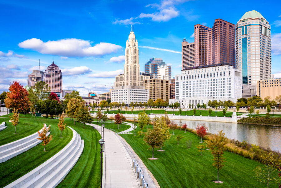 The Columbus, Ohio skyline