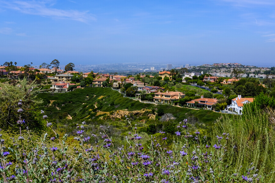 The foothills of the Laguna Hills area