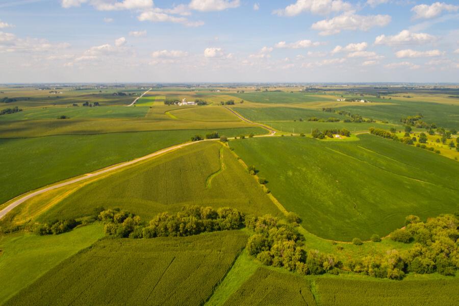 landscape in Iowa USA