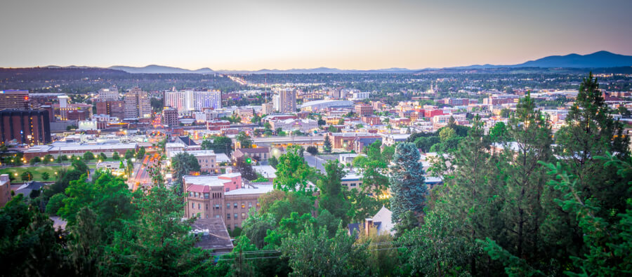spokane washington city skyline
