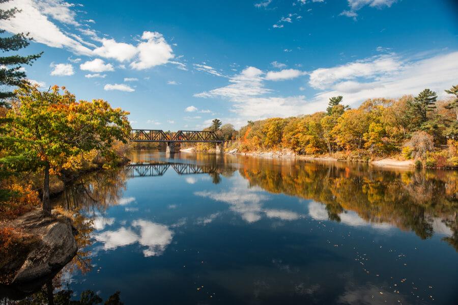 Androscoggin River in Brunswick, Maine