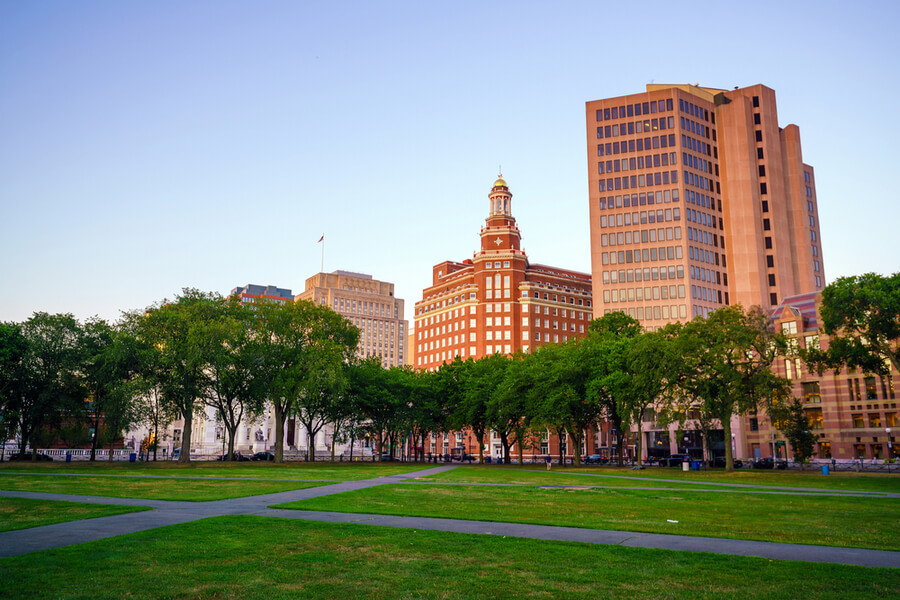 Downtown New Haven skyline