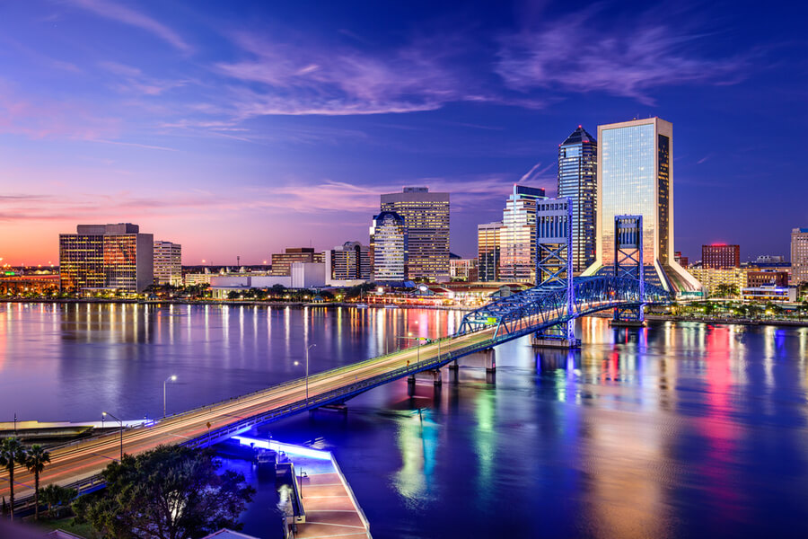 Jacksonville, Florida, USA downtown