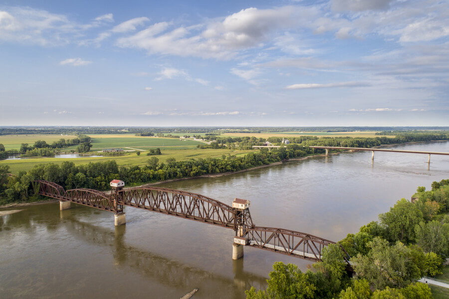 Katy Bridge over Missouri River at Boonville