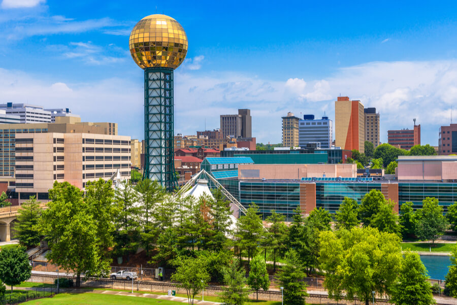 Knoxville, Tennessee, USA downtown