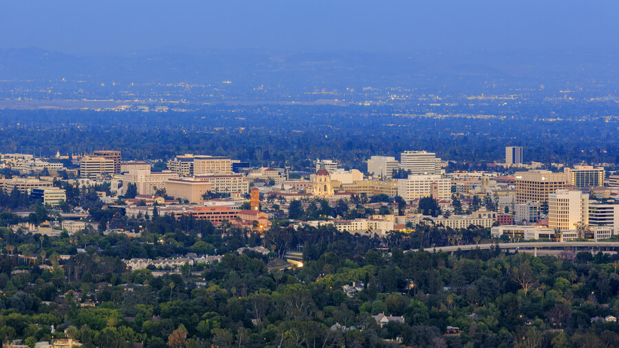 Pasadena downtown view
