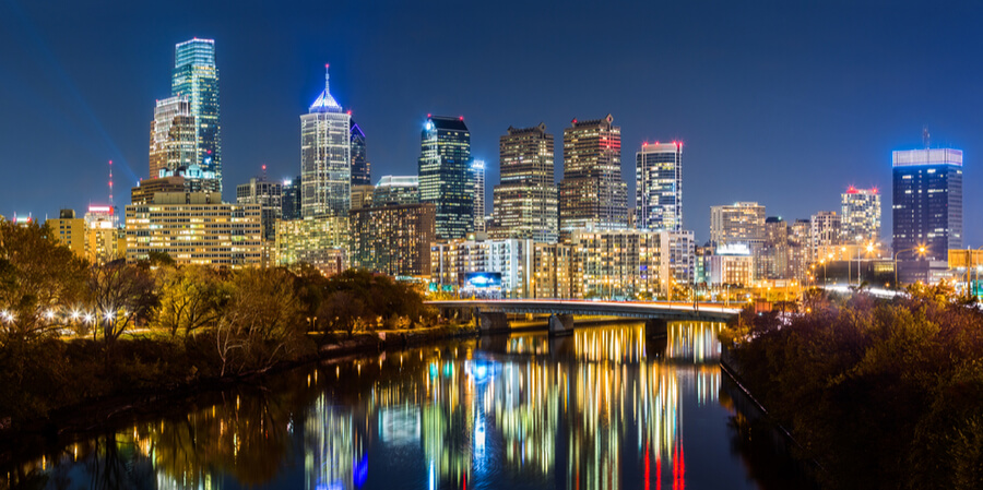 Philadelphia cityscape panorama