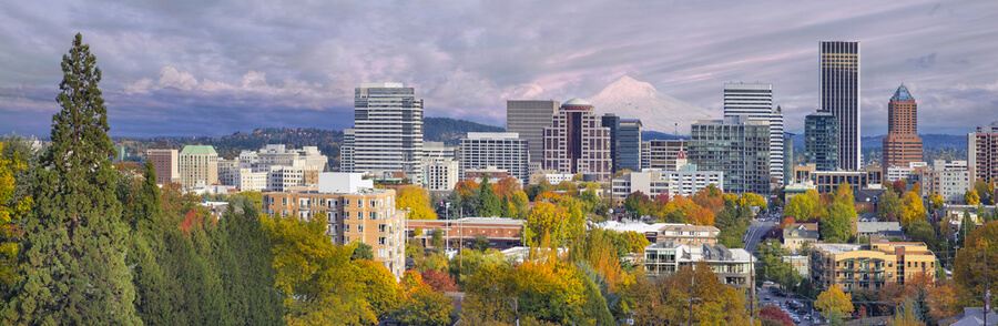 Portland Oregon Downtown City