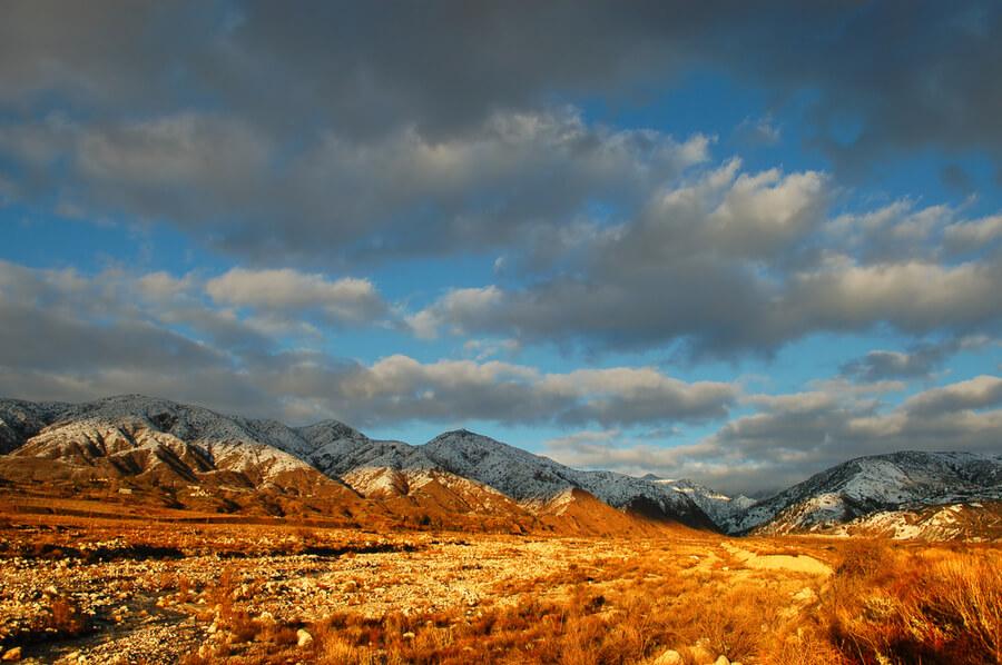 San Bernardino Mountains with Santa Ana Mountains