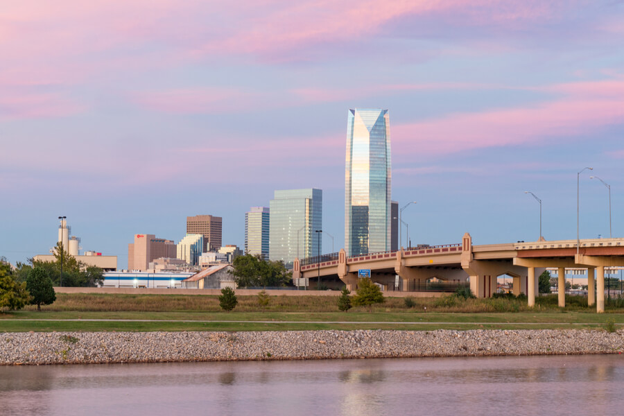Skyline of Oklahoma City, OK