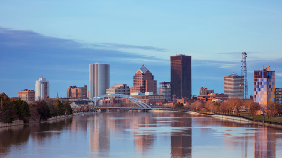 Skyline of Rochester New York