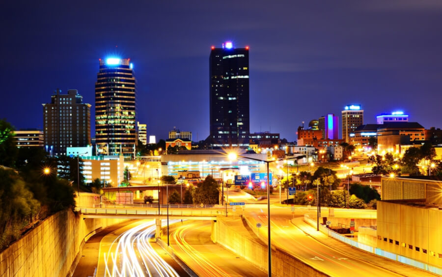 Skyline of downtown Knoxville, Tennessee, USA