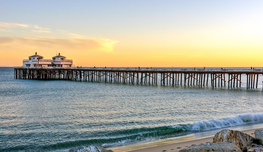 Sunset at Malibu Pier