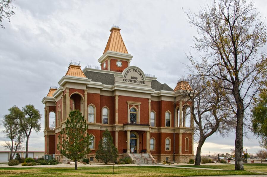 The Bent County Courthouse in Las Animas, Colorado
