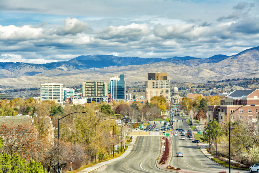 The skyline of Boise Idaho