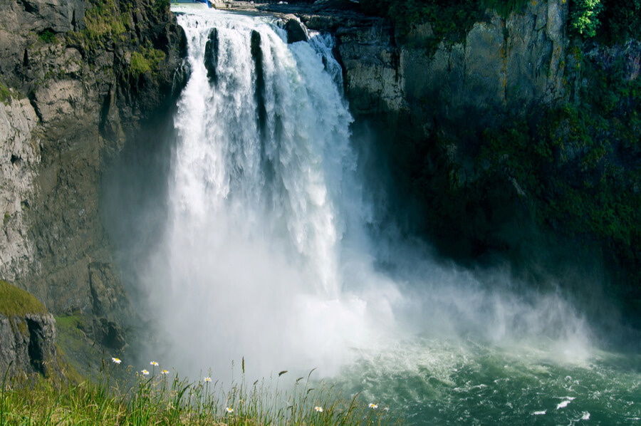 Waterfalls in Fall City, Washington state