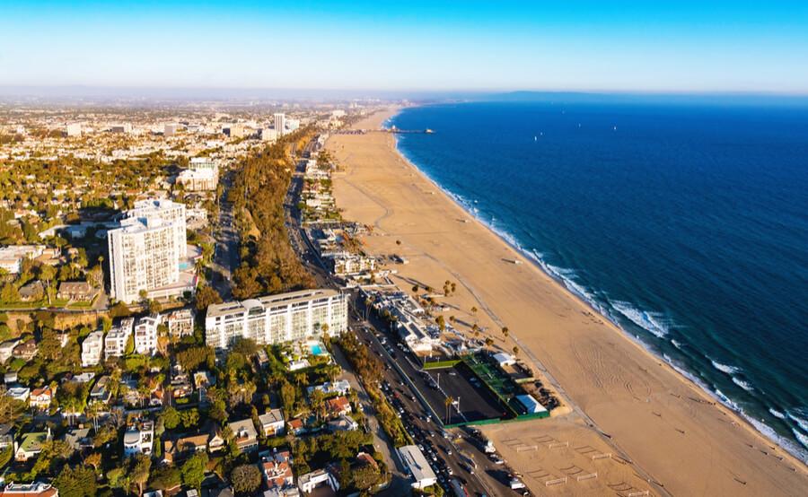 beach in Santa Monica, CA
