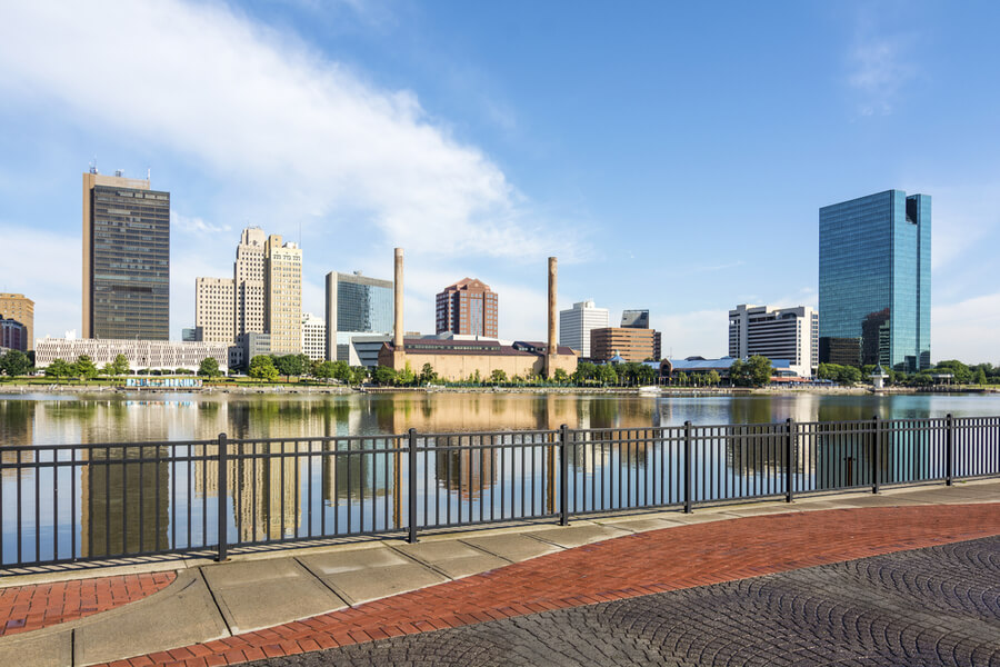 downtown Toledo Ohio's skyline