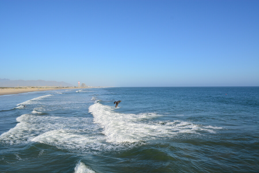 pacific ocean in Hueneme Beach