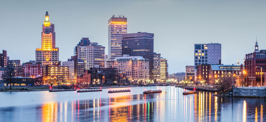 Providence, Rhode Island downtown cityscape