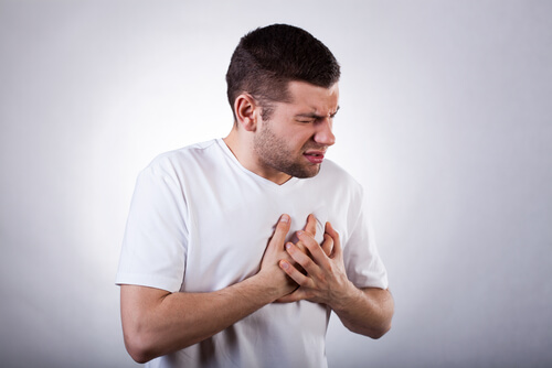 man with heart pain after lexapro od