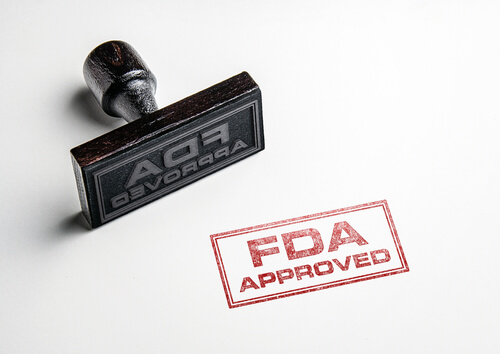 Rubber stamper with FDA Approved sign