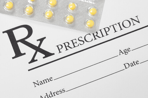 Medical drug prescription and Mobic pills