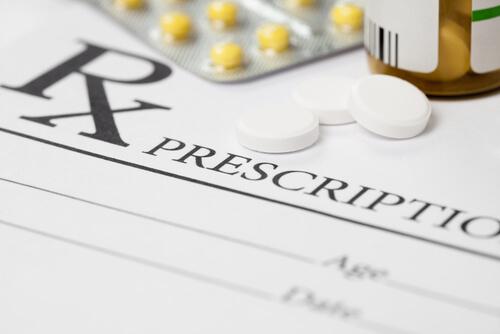 Medical prescription and meloxicam pills