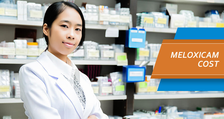 Pharmacist is checking meloxicam Cost