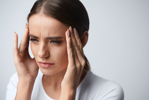 Young Woman Having Strong Tension Headache