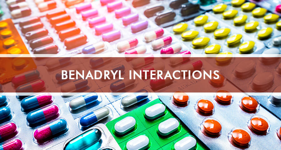 Drugs interacting with benadryl