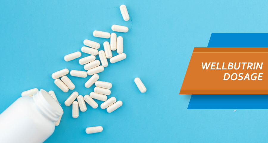 Wellbutrin pills spilled from the bottle