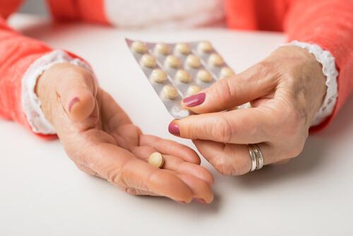 senior woman taking phenobarbital