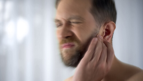 man with tinnitus and dizziness