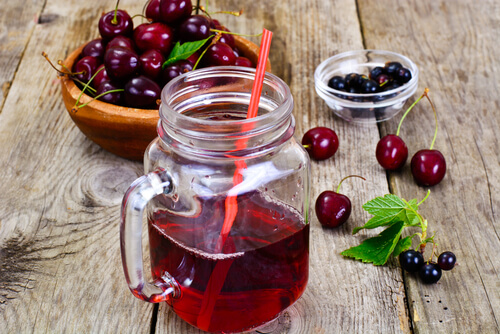 Cherry Juice jar