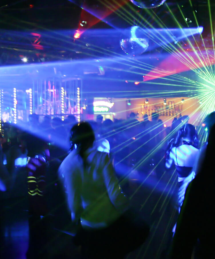 Teens partying in club