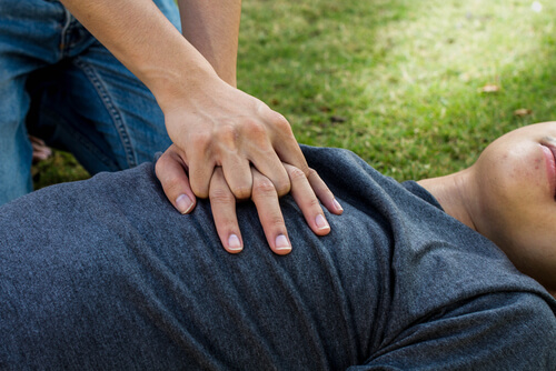 Administering CPR to overdosed on opioids