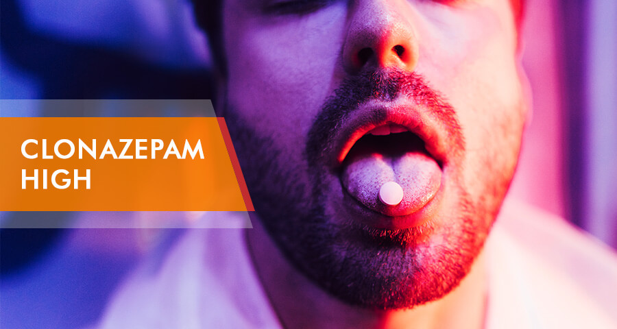 Clonazepam pill on the tongue